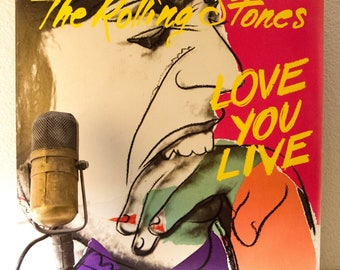 """ON SALE Rolling Stones Vinyl Record Album Mick Jagger The Rolling Stones 2LP """"Love You Live"""" (Original 1977 Rs Records w/""""Honky Tonk Women"""")"""