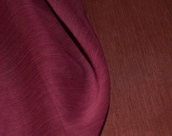 "Terracotta & Burgundy Reversible Crinkle Chiffon Fabric 59"" Wide"