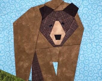 Bear Paper Pieced Block Pattern in PDF
