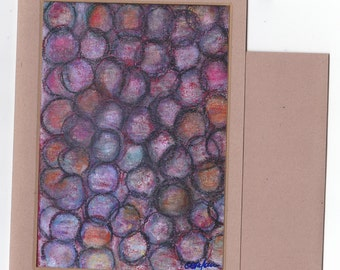 Abstract Fine Art Note Card - Enigma Circles Blank Cards Thoughts of You Gifts Original Art Blank Inside Stationery Envelope