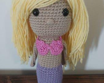 Crochet mermaid plush doll