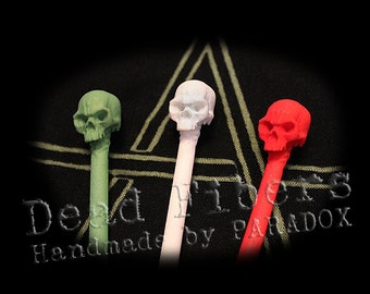 Skull Hair Pick Chopstick - Set of 2
