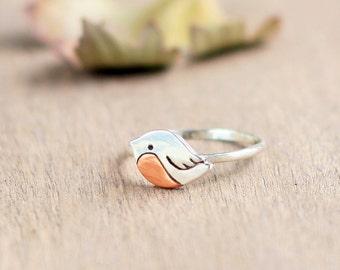 Silver ring little bird, Love bird ring, bird jewelry, little bird, tiny bird, silver bird ring, best winter woman gift, valentines day gift