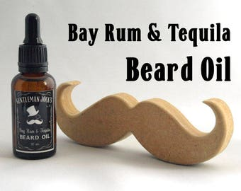 Beard Oil Bay Rum & Tequila Fathers Day Scottish Gift Jack Daniels Moustache Mens Grooming Comb Male Gent Shaving Vegan Natural Facial Hair