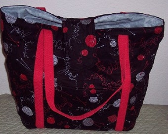 Knitters bag or Tote. Yarn theme. no 8