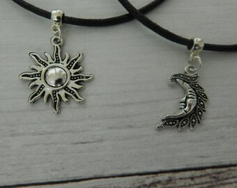 Sun And Moon Chokers, Set Of two Chokers, Best Friends Chokers, Sun Choker, Moon Choker, Best Friends Necklaces, Wiccan, Celestial