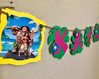 Moana Birthday Banner, Moana Birthday Party, Moana Banner, Moana Invitation, Moana SVG, Moana Birthday Invitation, Moana Birthday Shirt