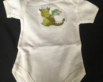 Embroidered Onesie, Dragon