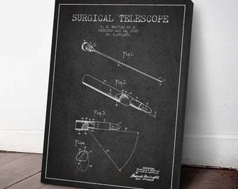 1928 Surgical Telescope Canvas Art Print, Surgical Telescope Print, Medical Patent, Wall Art, Home Decor, Gift Idea, ME90C
