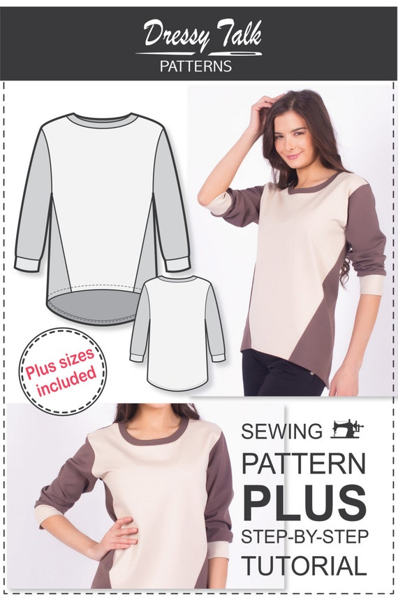Sweatshirt Pattern Sewing Patterns Plus Size Patterns
