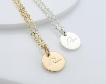 Wave Necklace - mini wave charm necklace - beach jewellery