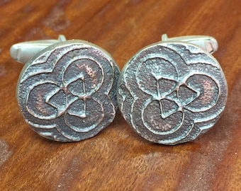 Round Crop Circle Cuff Links