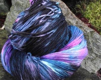 Handpainted sock yarn, fingering yarn, Superwash Merino  Nylon, 100 grams-New Wave