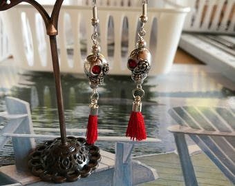 Grinning Skulls & Tassels Earrings