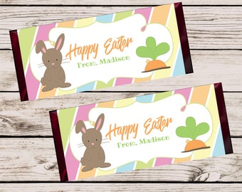 Easter Candy Bar Wrapper, Printable Party Decorations, DIY Party, School Treats, Easter Party Favor, Teacher Gift, Easter Chocolate Bar Wrap