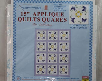 Jack Dempsey Needle Art 745 Sampler Butterflies Quilt, 6 Blocks, 18-Inch
