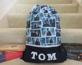 Children's Personalised Library Bag / Book Bags - Harry Potter -
