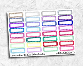 Quarter Boxes Dotted Border || SM009 || 1 Page