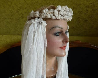 1920s I French antique wedding headpiece, bridal tiara, bridal crown, antiker Kopfschmuck