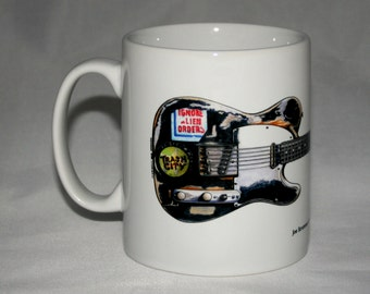 Guitar Mug. Joe Strummer's Fender Telecaster illustration.