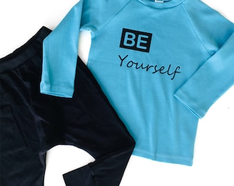 Kids Clothing set - Toddler Boy Clothes, Shipping Worldwide 8 days delivery to US, Hip and Stylish Kids Set Organic Cotton, Be Yourself