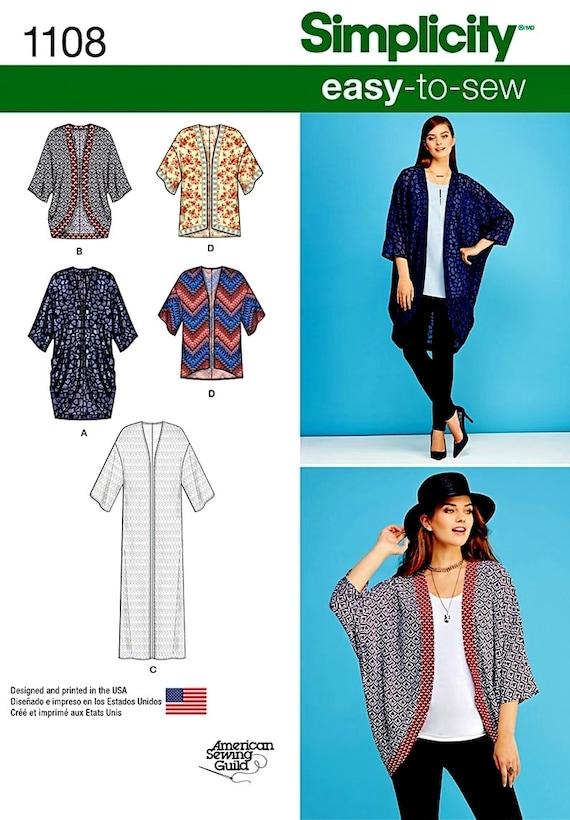 Sewing Pattern Kimono Cardigans Pattern Kimono Duster