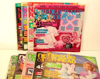 Vintage Needle And Thread Craft Magazine Collection