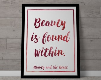 Poster / Print - Disney Beauty and the Beast Movie Quote - 3 Sizes Available