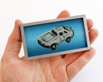 Original Miniature Artwork - BMW Silver Gullwing