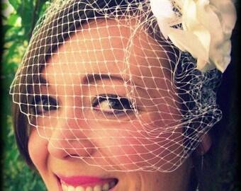 Mini Birdcage Veil - Bridal Retro 9 Zoll russische Veiling mit 1 Haircomb wählen Sie Ihre Farbe
