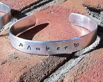 Sterling cuff, Personalized jewelry, mommy jewelry , custom jewelry,  engraved, cuff bracelet, hand stamped jewelry, personalized jewelry