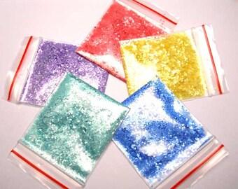 Pastels Solvent Resistant Glitter x 5 Sample Pack 15g