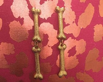 Faux Gold Bone Earrings