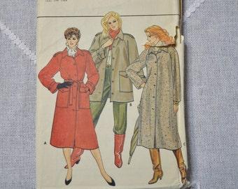 Butterick Pattern 4507 Uncut Misses Coat Jacket Belt Size 12 14 16 Sewing Supplies PanchosPorch