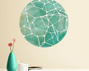 ON SALE Teal Constellations Wall Decal - Astronomy Art by Elise Mahan