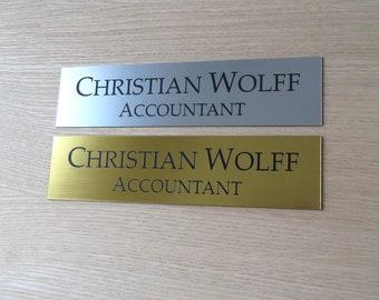 8  x 2  Custom Engraved Office Sign Personalised Door Sign Plaque Name Home & Custom door sign | Etsy