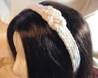 Limited Edition white nautical rope headband