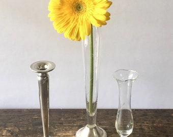 Lot of 3 Vintage Sterling Silver Bud Vases