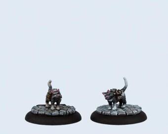 Wolsung Steampunk Game: (The Scylla) Explosive Cats (2) - W00069 - Micro Art Studios