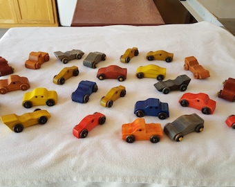Painted Cars & Trucks Handmade Wooden Toy