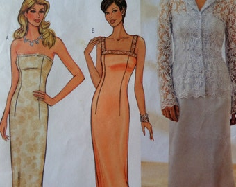 STRAPLESS GOWN Pattern • Butterick 3701 • Miss 6-8 • Evening Gown • Mother of Bride • Sewing Patterns • Bridal Patterns • WhiletheCatNaps