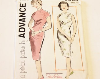 Advance Sew-Easy 9860: Junior and Misses' Dress Size 12 UNCUT
