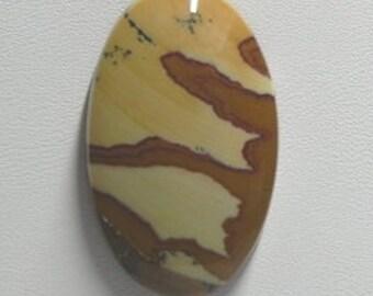 Picture Jasper elongated oval cabochon