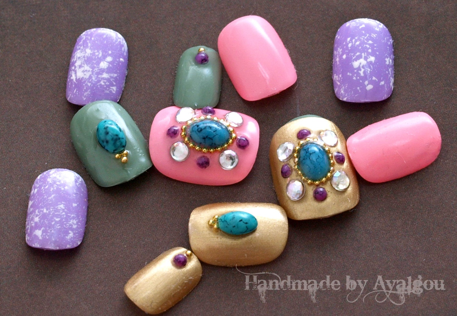 Japanese nail art fake nails acrylic nails gel nails