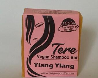Ylang Ylang Shampoo Bar - SLS Free Shampoo - Solid Shampoo Bar - Natural Shampoo Bar - Hair Soap - Hair Bar - Vegan Natural Shampoo and Soap