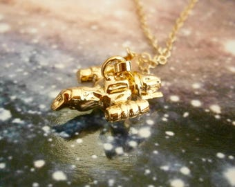Gold Firefly Charm Pendant