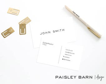 Minimalist Premium Business Cards | skincare, business, marketing, printed, men's, masculine, clean direct sales, Rodan, Fields,