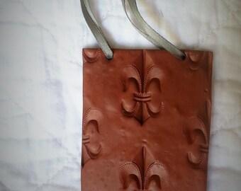 Antique Copper Fleur de Lis Ornament