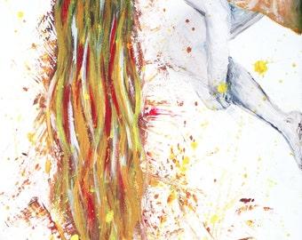 Original painting, 'Orange Hair' by Emily Hocking