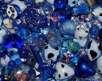 Lot assorted beads, Lampwork, Italian glass